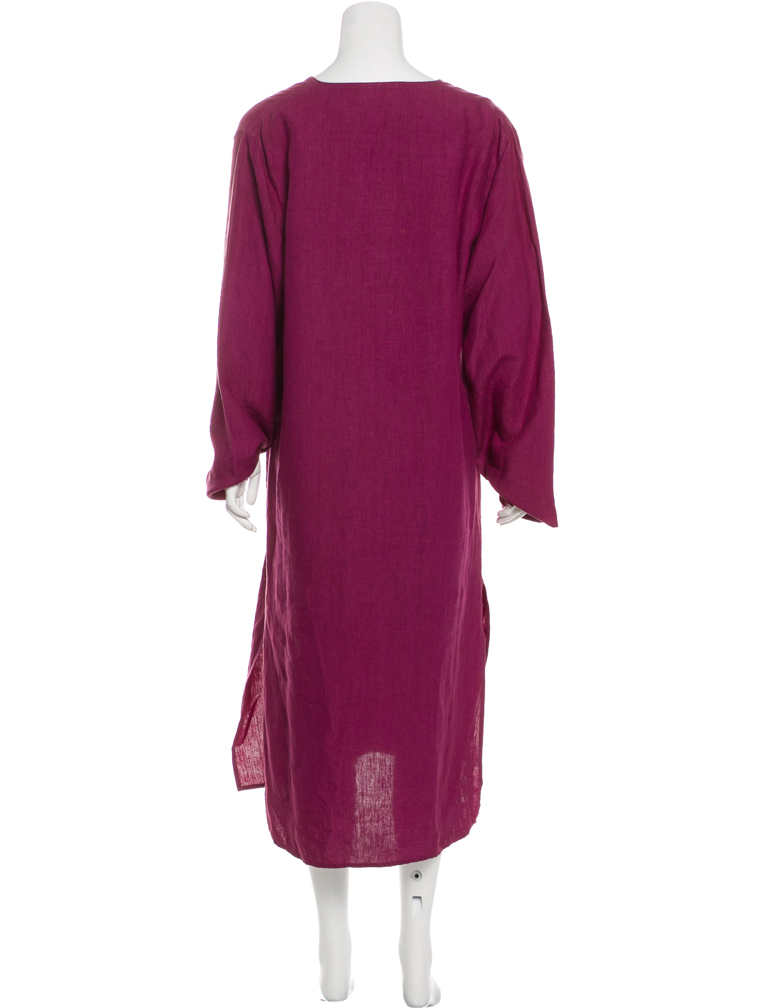 206d9d59927 Denis Colomb Long Sleeve Linen Dress w  Tags - Clothing - WDC20055 ...