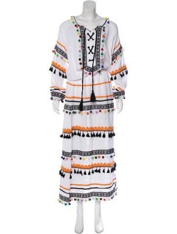 Embellished Maxi Dress w/ Tags