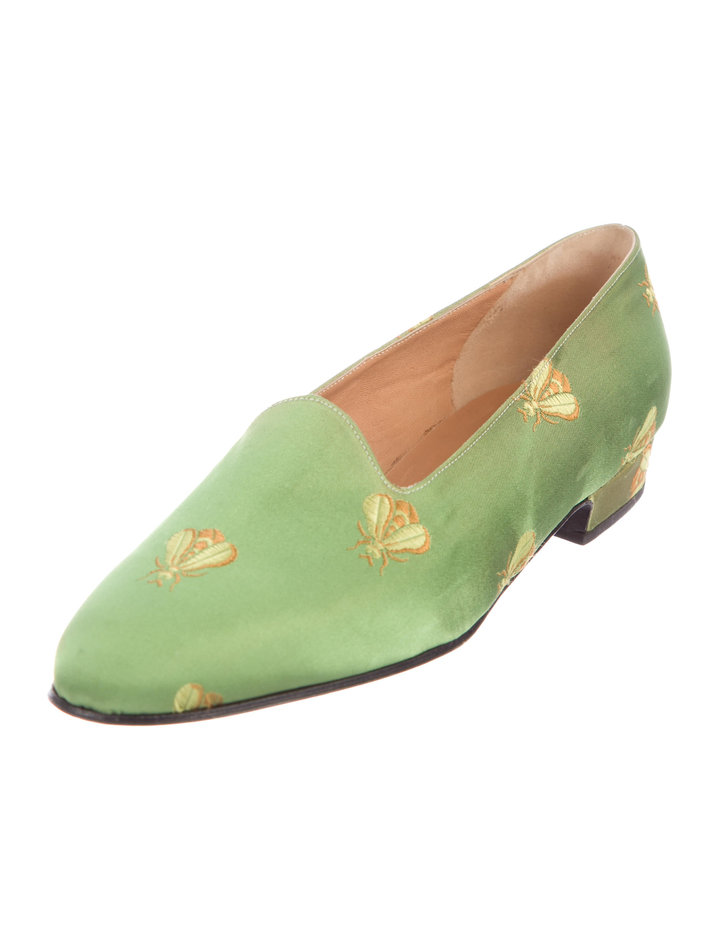 Delage Satin Embroidered Flats 2014 cheap price YGbFhKh