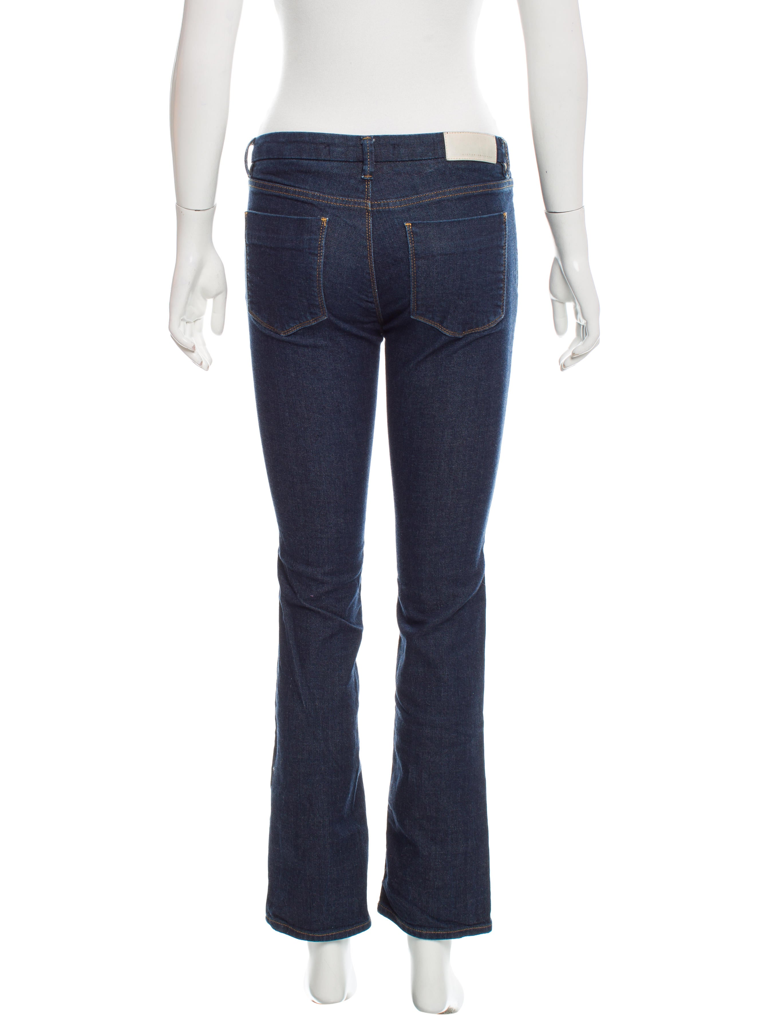 Victoria Beckham Denim Low Rise Straight Leg Jeans