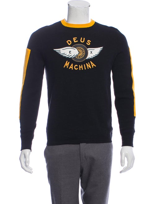 Deus Ex Machina Embroidered Logo Sweater black