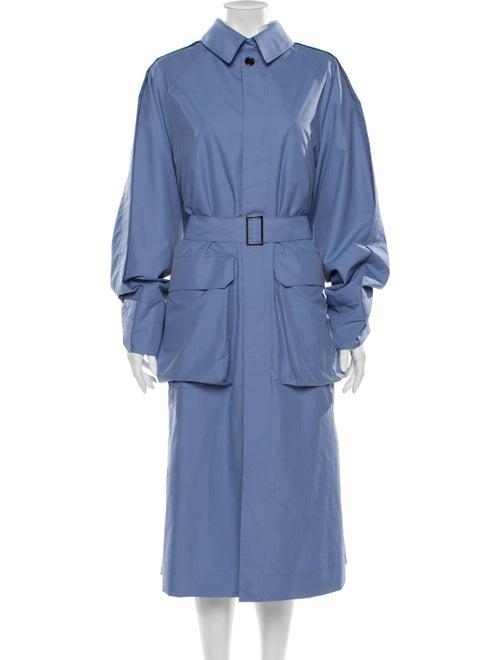 Deveaux Trench Coat Blue