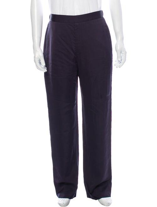 Deveaux Satin Dress Pants w/ Tags Blue