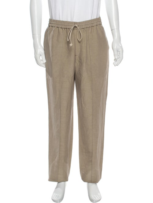 Deveaux Linen Pants Brown