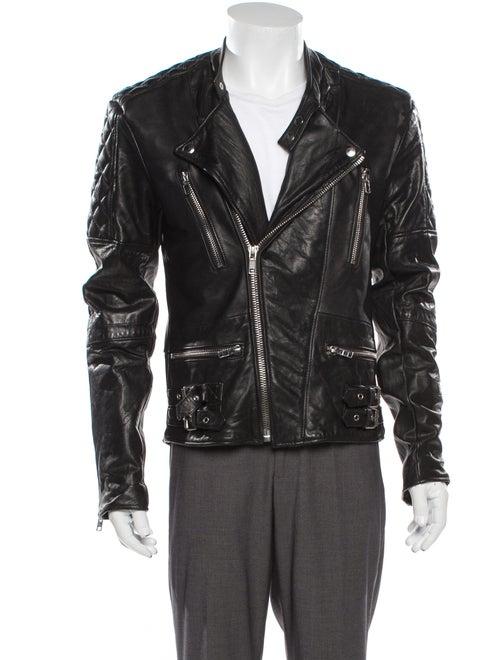 Deadwood Leather Moto Jacket Black