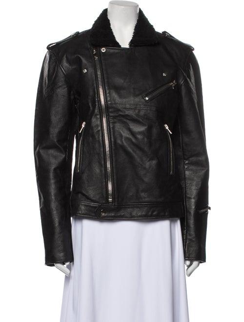Deadwood Leather Biker Jacket Black - image 1