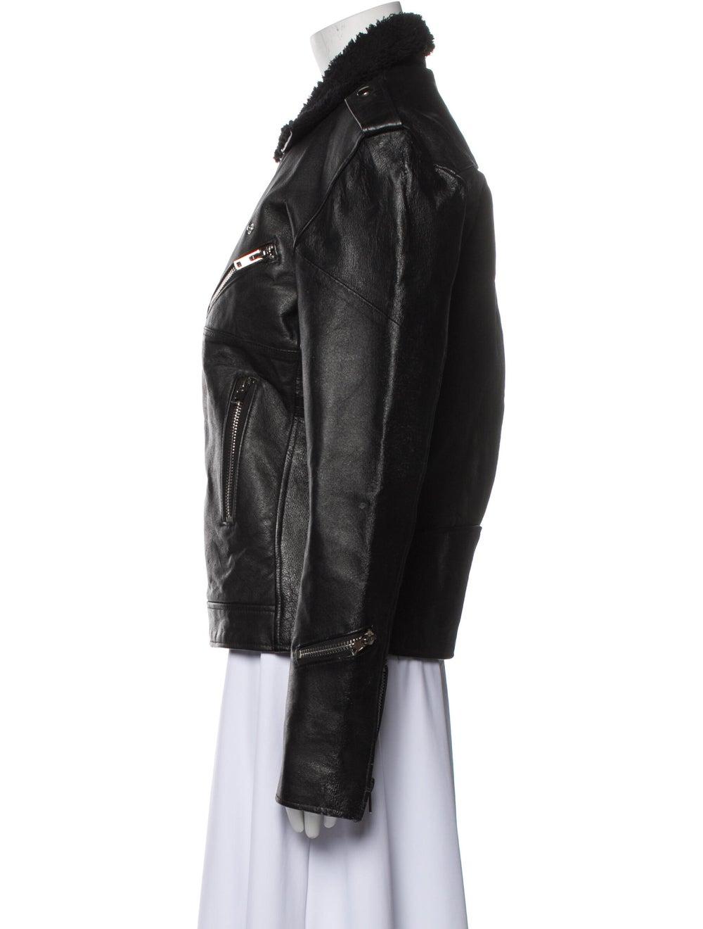 Deadwood Leather Biker Jacket Black - image 2