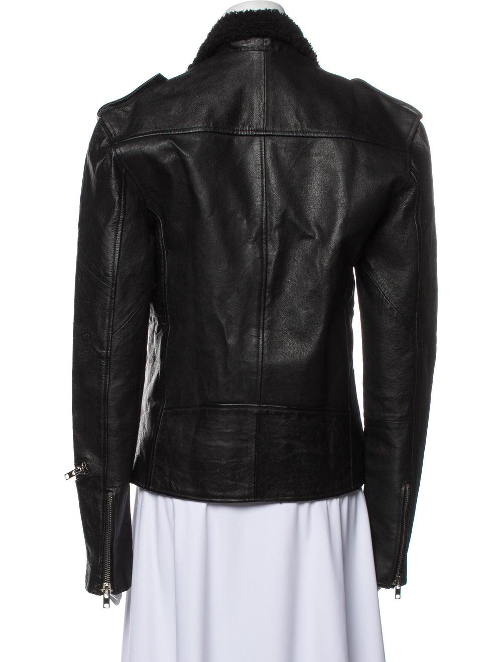 Deadwood Leather Biker Jacket Black - image 3