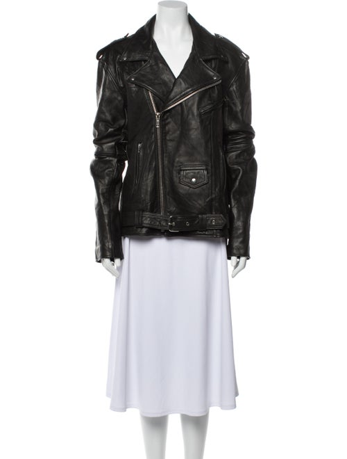 Deadwood Leather Biker Jacket Black