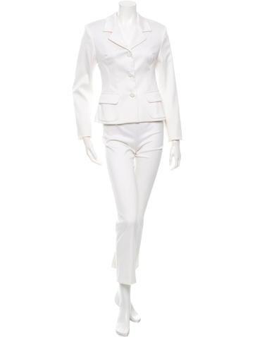 White Satin Pantsuit