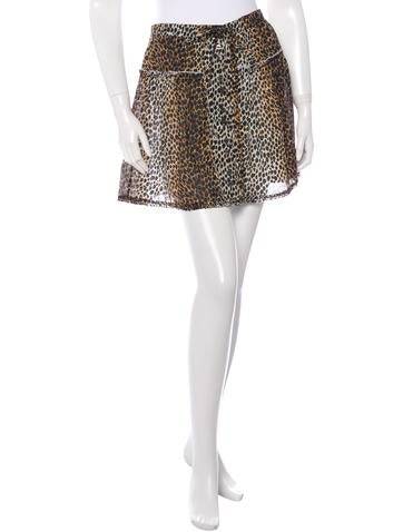 D&G Cheetah Print Mini Skirt