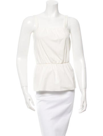 D&G Sleeveless Gathered Top None