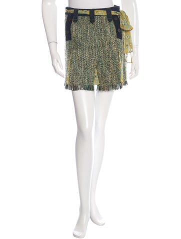 d g tweed pleated mini skirt clothing wdg30429 the