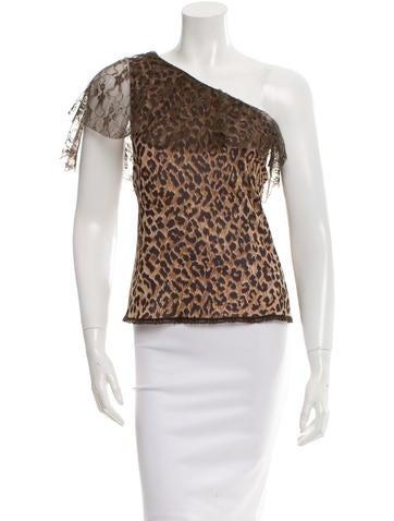 D&G One-Shoulder Leopard Print Top None