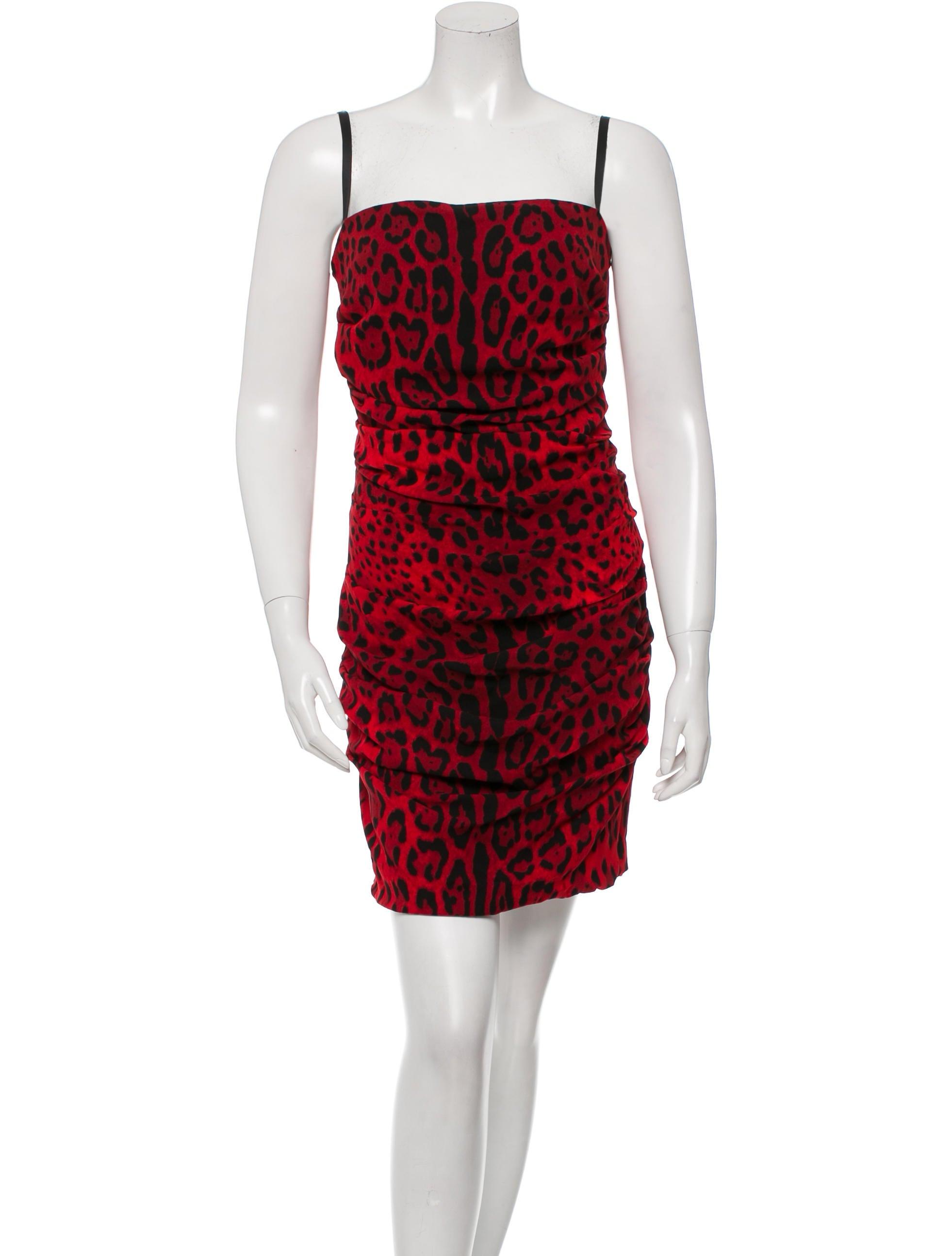 d g ruched cheetah print dress clothing wdg30639 the