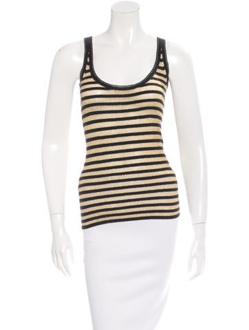 D&G Metallic Striped Top None