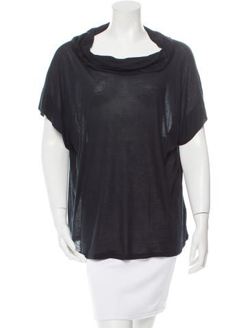 D&G Short Sleeve Draped Top None