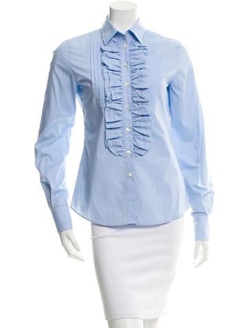 D&G Ruffle-Trimmed Top None