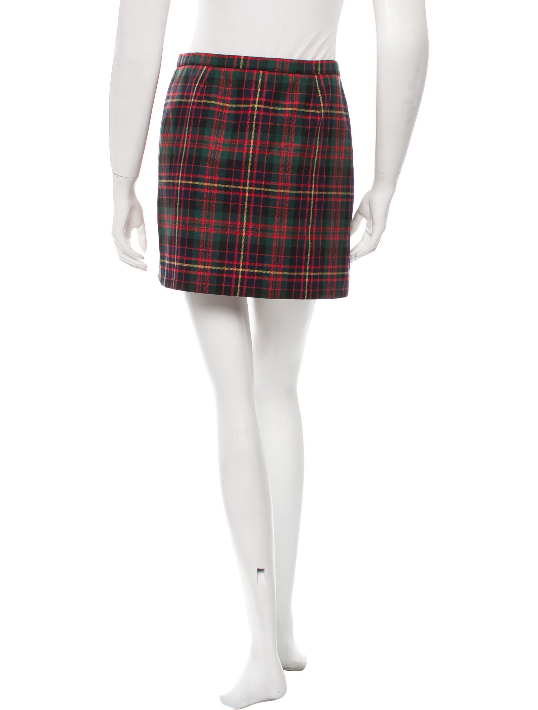 d g pleated plaid mini skirt clothing wdg30802 the