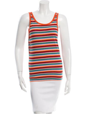 D&G Rib Knit Striped Top None