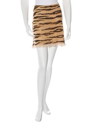 D&G Printed Mini Skirt None