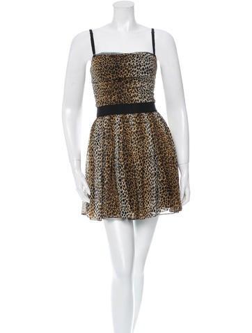 D&G Silk Leopard Print Dress None
