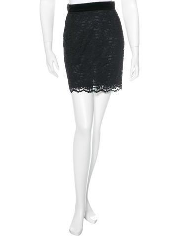 D&G Lace Mini Skirt None