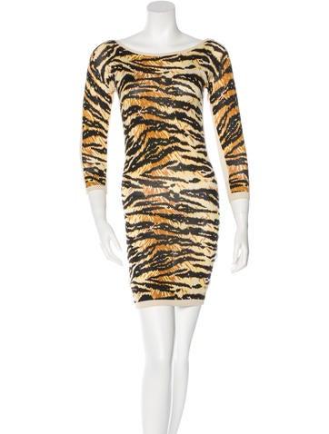 D&G Silk Tiger Print Dress None