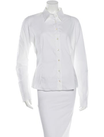 D&G Button-Accented Long Sleeve Top None