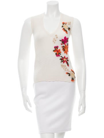 D&G Floral Embroidered Knit Top None