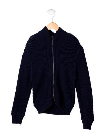 D&G Boys' Cable Knit Cardigan None