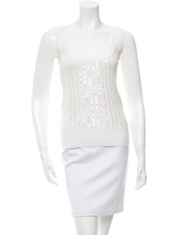 D&G Sequined Rib Knit Top None