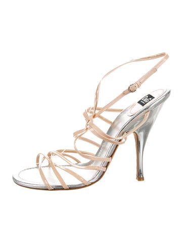 D&G Patent Leather Multistrap Sandals None