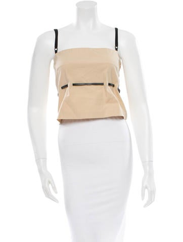 D&G Sleeveless Belted Top None