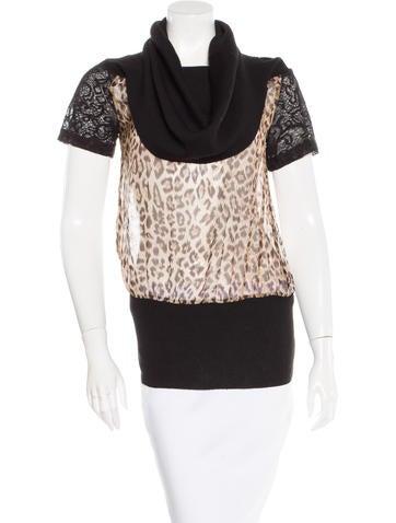 D&G Leopard Print Silk Top None
