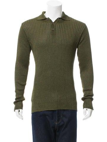 D&G Rib Knit Polo Shirt w/ Tags None