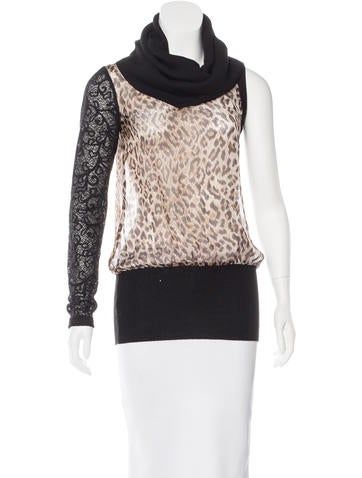 D&G Asymmetrical Leopard Print Top None