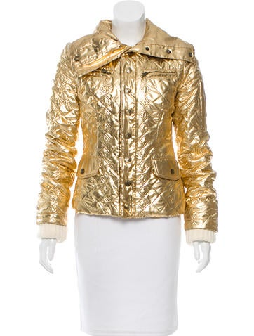 D&G Quilted Metallic Jacket None