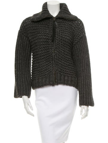 D&G Knit Zip-Up Sweater None