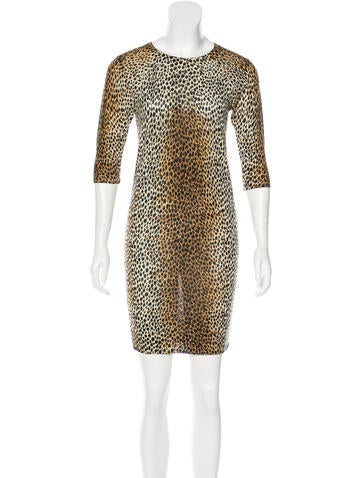 D&G Cheetah Print Wool Dress None