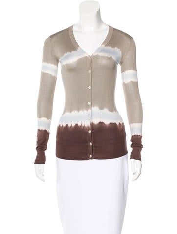 D&G Silk Tie-Dyed Cardigan