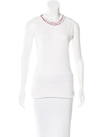 D&G Sleeveless Embellished Top w/ Tags None