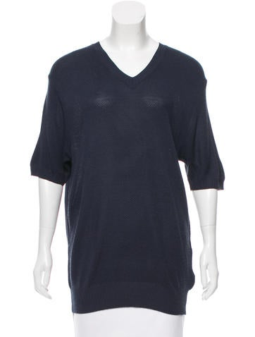 D&G V-Neck Short Sleeve Sweater None