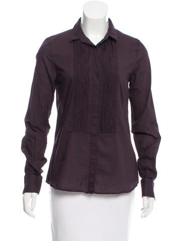 D&G Long Sleeve Pleated Top None