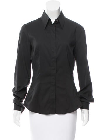 D&G Long Sleeve Collared Top None