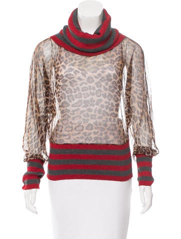 D&G Printed Long Sleeve Top None