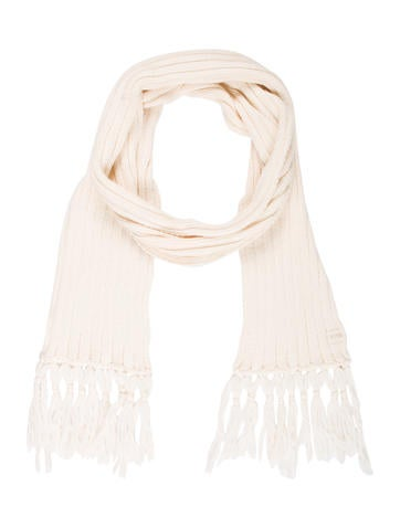 D&G Wool-Blend Rib Knit Scarf w/ Tags None