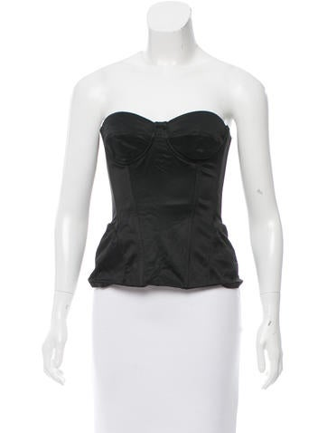 D&G Strapless Bustier Top None