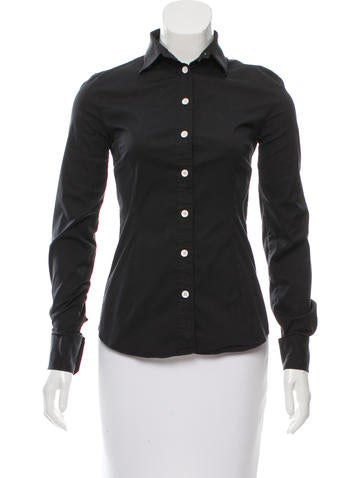 D&G Long Sleeve Button-Up Top None