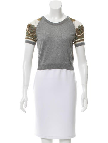 D&G Silk-Blend Paneled Top None